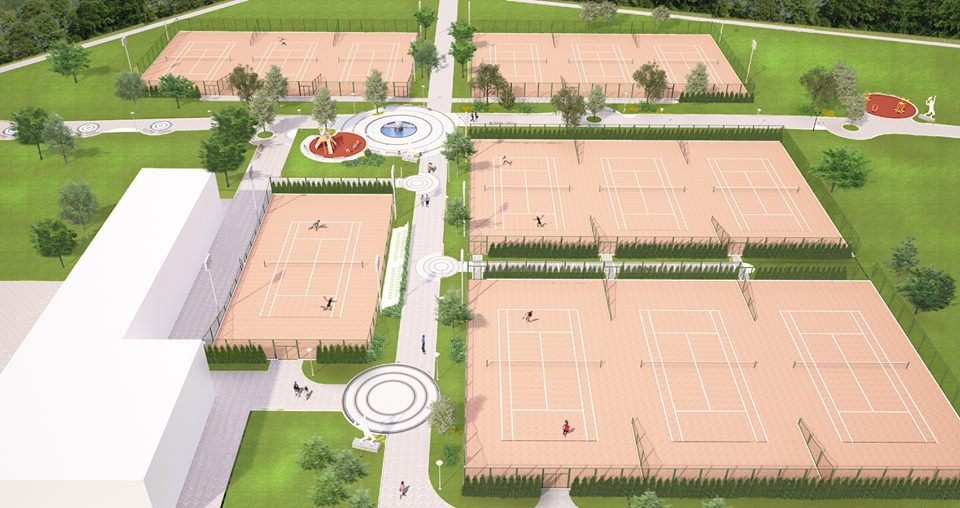 new tennis courts Albena